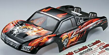 RC 1/10 SHORT COURSE  Body Shell  W/ 2 Rear Tire Holders -PAINTED-FINISHED-