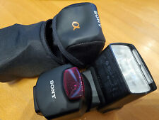 Sony HVL-F43AM shoe mount flash with original Sony case Alpha series