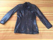 Haut femme OAKWOOD 100% peau de chèvre taille S small UK 8 veste marron vêtements très bon