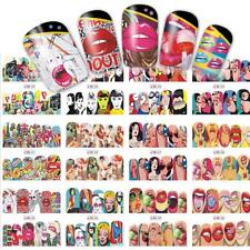 Nail Art Stickers Decals Transfers Sexy Lips Pop Art Lollipops Superheroines