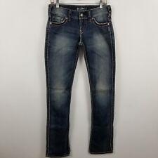 Silver Mckenzie Womens Baby Boot Cut Dark Wash Blue Jeans Size 28 x 34