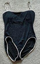 Jantzen ladies size 12 bathing swimming suit black