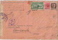 1944 RSI 20C MONUMENTI +30C+1,25 ESPRESSO SU BUSTA CENSURATA DA MILANO X SONDRIO