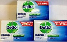 3 X 70g Blue Pack DETTOL ACTIVE Anti Bacterial Bar Soap USA SELLER FAST S&H