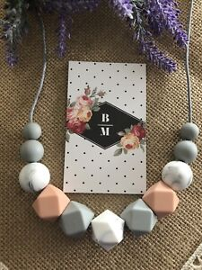 New Silicone Necklace for Mum Jewellery Beads Aus Gift (was Teething) Nursing