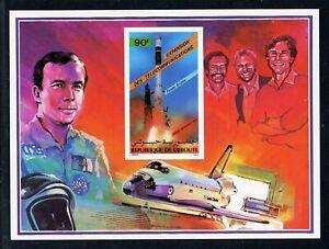 DJIBOUTI SPACE Shuttle MNH Selections: Scott #C216VAR 90Fr ARIANE S/S IMPERF $$$