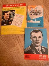 More details for soviet union magazine 1961 yuri gagarin first man in space vostok cosmonaut ussr