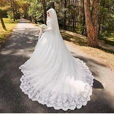Arabic Muslim Luxury Long Sleeve Wedding Dress With Lace Bride Bridal Gown
