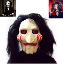 Latex Jigsaw Mask Saw Billy Horror Puppet Full Head Halloween Tobin Bell Wig 201