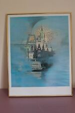 Walt Disney World-15th Anniversary-Lithograph-Numbered/Signed by Jim Noble -1986