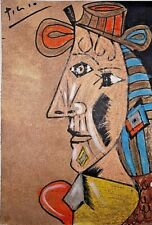 Pablo Picasso Horse Original Watercolor Drawing Painting. Signed.