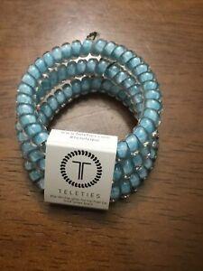 NEW Teleties 3 Pack Small Hair Ties Under The Sea Blue Ponytail Bracelets