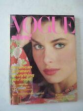 Magazine mode fashion VOGUE US may 1980 Nastassja Kinski