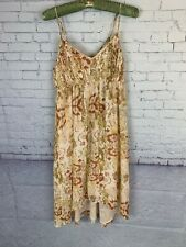 Urban Outfitters Pins And Needles Dress Tan Floral Womens Medium