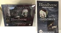 Bloodborne Hunter & Doll Vinyl Action Figure + Pin SET Official Sony Playstation