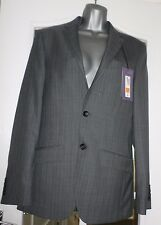 Marks & Spencer Mens/Boys Grey Lined Striped Suit Jacket-Chest 36 (Long) rrp £85
