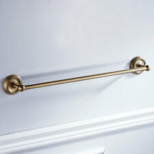 Single Towel Rack Rail Holder Brass Vintage Style Wall Mount Bathroom 61cm