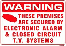 Premises Secured by Electronic Alarm 10