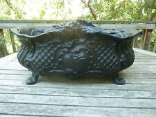Antique French Cast Iron Ornate Jardiniere Flower Planter Large
