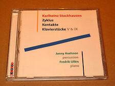 CD Karlheinz Stockhausen Zyklus Kontakte Klavierstücke V & IX Axelsson / Ullén