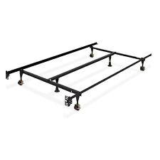 BCP Adjustable Metal Bed Frame w/ Locking Wheels