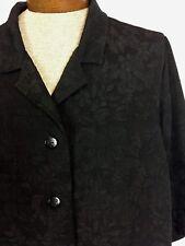 Maggie Barnes Plus Rich Black Crinkle Textured Button Up Blouse Size 3X 26/28W