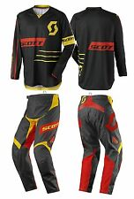 TUTA MAGLIA PANTALONI CROSS ENDURO SCOTT 350 DIRT NERO GIALLO YELLOW 36(52) XL