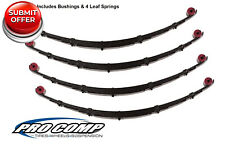 "Pro Comp 51413 51423 4"" Front/Rear Leaf Springs for 1987-1995 Jeep Wrangler YJ"