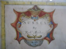 A Map of Sussex by Robert Morden 1722,  framed   *