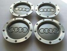Gray 4x146mm Wheel Center Caps for Audi 8D0601165K For A2 A3 A4 A6 A8 TT Hubcaps