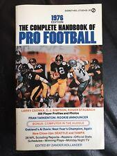 The Complete Handbook Of Pro Football 1976 Edition, Football Books, Ken Stabler