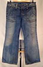 C894 Diesel Jeans Womens Hipper Wide Leg Medium Rise Flare Distressed 30x32