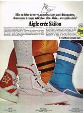 Publicité Advertising 1972 Les Bottes après ski Aigle crée Skilon