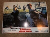 Patricia Tallman Autographed Spanish Lobby Card Night Of The Living Dead 90