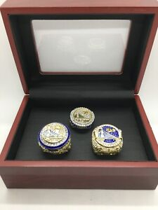 3 Set Golden State Warriors 2015 2017 2018 Championship Ring Ring Set With Box