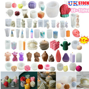 3D Silicone Candle Making Moulds DIY Aromatherapy Candles Wax Plaster DIY Mold