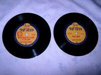 2 x Assorted Golden Fleece 45 rpm Singles Promotional Records