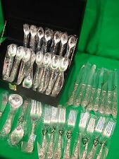 F. B. Rogers (China) 44 pc Silverplate Flatware Set, Holly Design w/ Case, NEW