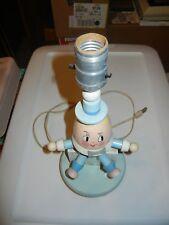 Antique Vintage Wooden Humpty Dumpty Nursery Lamp Nursery Plastics Inc Felt Tie