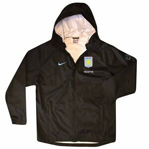 Official Aston Villa Waterproof Shell Jacket by Nike (100% Polyester Adults XL)