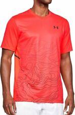 Under Armour Ua Men's Forge V-Neck Patterned T-Shirt - Orange - New