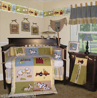 Baby Boutique - On the Farm - 13 pcs Crib Nursery Bedding Set