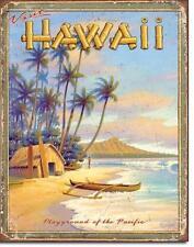 Hawaii Pacific Playground Strand Beach Urlaub Reisen Metall Deko Schild