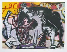 "Pablo Picasso BULLFIGHT Estate Signed & Stamped Limited Edition Giclee 20"" x 26"""