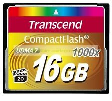 Transcend CompactFlash 16GB 16G 1000X 160MB/S Read 70MB/S Write UDMA7 CF Card