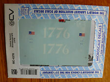 Microscale Decal HO  #MC-4378 Central Vermont Bicentennial GP9 Diesel Dates:1976