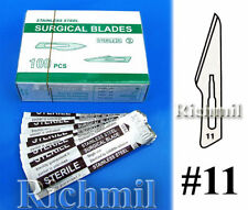 10 New Sterile #11 Stainless Steel Scalpel Blades *UK*