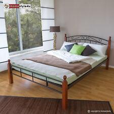 Bett Metallbett Bettgestell Doppelbett Bettrahmen Lattenrost Gästebett 180x200