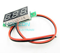 "2PCS 0.28""DC Digital Voltmeter Panel Mount LED Voltage Volt meter 2.50~30V blue"