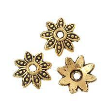 100x perlas tapas perlkappen remates filigrana flores para 10 mm perlas metal